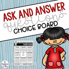 Ask and Answer Questions RL 3.1 Choice Board and Activities