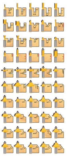 """Jogo De 50 Fresas haste ¼ para Tupia manual de Ótima qualidade Aproveite poucas unidade a pronta entrega Frete gratis via PAC Fresas Conteudo: 50 fresas de ótima qualidade em widea com haste de ¼ ou seja 6,35mm Brinde Linda caixa de madeira""""estojo para guardar e manter suas fresas seguras e prontas para o uso"""" … Router Jig, Wood Router, Router Woodworking, Woodworking Workshop, Woodworking Techniques, Woodworking Projects, Dremel Wood Carving, Wood Tools, Diy Tools"""