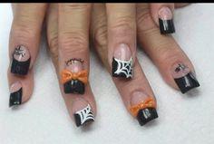 Nails, Acrylic,  3D Nail Art, Halloween.