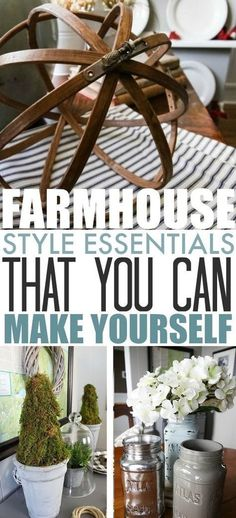 In this post, I'm sharing a collection of some of my favourite DIY farmhouse style essentials that I've made for my home over the years. # DIY Home Decor farmhouse style Farmhouse Style Essentials That You Can Make Yourself