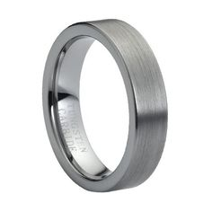 Tungsten Carbide Brushed Polished Flat Pipe Cut Style 6mm Wedding Band Ring, 8 Size Rings - Tungsten http://www.amazon.com/dp/B00AM146TI/ref=cm_sw_r_pi_dp_purzwb07J9NET