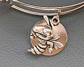 Silver Georgia Tech Yellow Jacket Inspired by Alex and Ani Charm Bracelet,  FAST Shipping,  Fan, GA Tech, Inexpensive, University, College