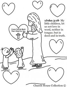 Jesus Sweetheart Candy! coloring page   Church & Sunday School ...