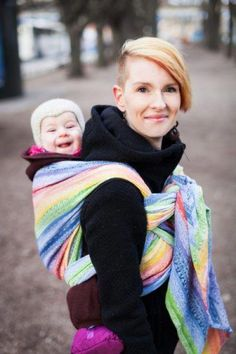 169e4998250 Gaia Rainbow Ellevill Wraparound Baby Carrier (these wraps are gorgeous!