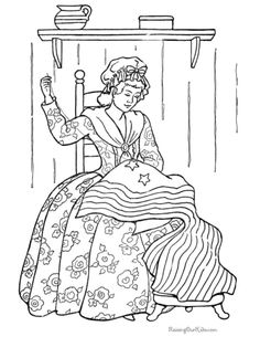 American Flag History Coloring Page
