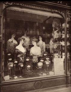 Shop for Paris, 1912 - Hairdresser'S Shop Window, Boulevard De Strasbourg by Eugene Atget Architecture Art Print. Get free delivery On EVERYTHING* Overstock - Your Online Art Gallery Store! Vintage Paris, Old Paris, Vintage Store, Retro Vintage, Vintage Pictures, Old Pictures, Old Photos, Eugene Atget, Belle Epoque