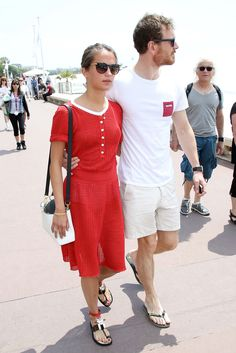 Michael Fassbender and girlfriend Alicia Vikander seen out in Cannes 5/19/15