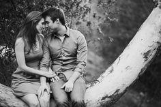 Soulful, woodsy engagement shot | Marianne Wilson Associates @Marianne Sanada (formerly Wilson)