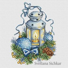 Winter Lantern by sa-pattern.com, PDF chart