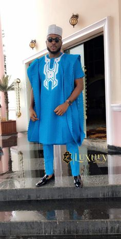 Hello,Today we bring to you Agbada Outfits for men from Our African Fashion community. These Agbada African Attire For Men, African Wear Dresses, African Clothing For Men, African Traditional Wear, Traditional Fashion, Traditional Wedding, Nigerian Men Fashion, African Print Fashion, African Prints