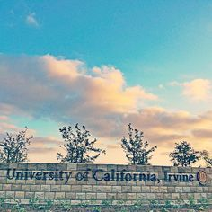 Beautiful new campus signs at UC Irvine