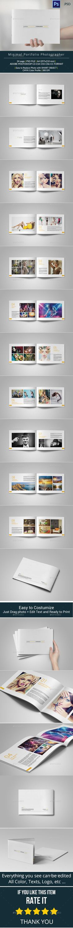 Minimal Portfolio Brochure Template #design Download: http://graphicriver.net/item/minimal-portfolio/10058402?ref=ksioks