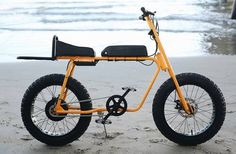 Pineapple Bike e-bike: Fat tire two-wheeler is essentially an electric moped. Bicycle Engine, Bicycle Race, Mini Bike, Jdm, Electric Moped, E Bike Battery, Tricycle Bike, E Mobility, Motorised Bike