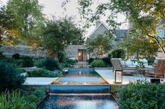 Architects London, Outdoor Spaces, Outdoor Decor, Water Features In The Garden, Contemporary Garden, Big Houses, Interior And Exterior, Restoration, Patio