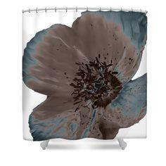 Unique Velvet Mocha Teal Poppy Flower by HeatherJoyceMorrill