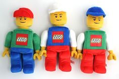 LEGO Plush Figure from the Boing Boing Shop $19.95 each - I'll take one for me and one for my son, please.