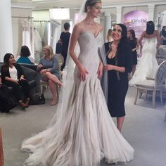 """Kleinfeld Bridal on Instagram: """"Want a behind-the-scenes look at the filming of Season 14 of @tlc's #SYTTD?  Check out our Snapchat to see the sneak peek: @kleinfeldbridal ✨ Wedding dress: @mark_zunino #Kleinfeld"""""""