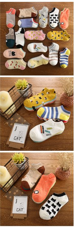 €5,38 for 5 pairs - Buy summer women cute cartoon cat pattern ankle socks female fashion invisible cotton socks ladies boat socks 10pcs=5pairs/lot from Reliable sock animal suppliers on Fashion Sock