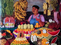 La vendedora de frutas, 1951, Olga Costa by dou_ble_you, via Flickr