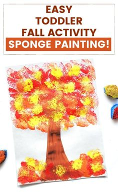 Fall Crafts For Toddlers, Toddler Arts And Crafts, Fall Arts And Crafts, Art Activities For Toddlers, Thanksgiving Activities For Kids, Painting Activities, Finger Painting For Toddlers, Educational Activities, Classroom Activities