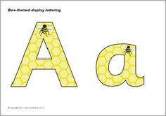Bee-themed display lettering (SB6014) - SparkleBox