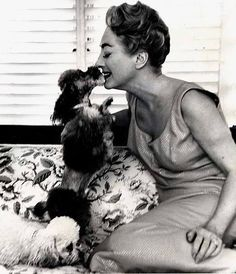 Joan Crawford and her poodle friends love and kisses