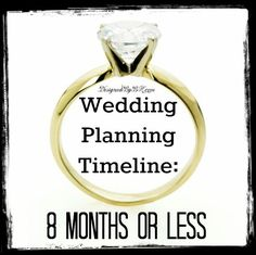 Wedding Planning Timeline - 8 Months or Less from http://DesignedByBH.com/  #wedding #planning #timeline