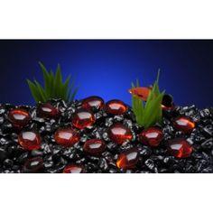 Gem-Stones Red (90PC) Fish Tank Gravel, Gem Stones, Fruit, Plants, Red, Products, Flora, Plant, Gadget