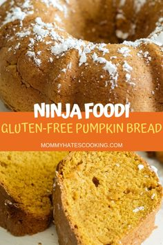 Make the best Ninja Foodi Pumpkin Bread that can easily be made gluten-free, plus baked in the oven if needed too! Gluten Free Pumpkin Bread, Gluten Free Desserts, Gluten Free Recipes, Ninja Recipes, Bread Recipes, Starbucks Pumpkin Bread, Canned Pumpkin, Pumpkin Recipes, Fall Recipes