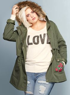 Plus Size Anorak Jacket - Plus Size Fall Outfit - Plus Size Fashion for Women