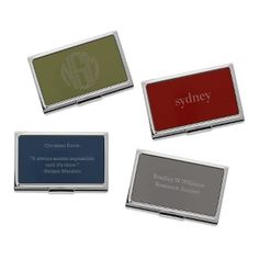 Sleek and modern, our personalized Chrome Collection Business Card Case is the perfect accessory for networking. Engrave name, title, contact info or an inspiring quote on the front and inside of the personalized business card holder. https://www.thingsremembered.com/black-chrome-collection-business-card-cases/product/346207?fcref=pinterest