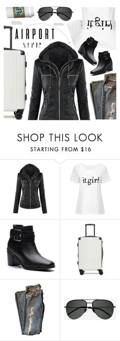 """""""#airportstyle(yoins 20)"""" by meyli-meyli ❤ liked on Polyvore featuring CalPak and Yves Saint Laurent"""