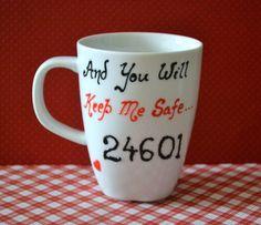Les Miserables Gift  24601 Coffee Mug 10 oz  by DreamAndCraft, $15.00