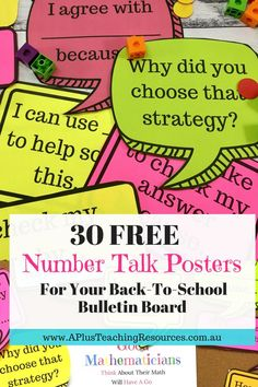 30 Free Number Talks Math Posters If youre looking for some Clever Number Talks Math Posterstry these FREE AH-MAZING Math Prompts Printables. Just perfect for a back-to-school bulletin board! Back To School Bulletin Board Ideas For Teachers I just love checking out back to school bulletin board ideas for teachers I just cant help it I love bright colourful displays ... Read More about 30 Free Number Talks Math Posters The post 30 Free Number Talks Math Posters appeared first on Classroom…