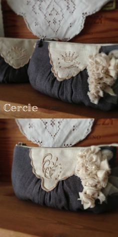 Couture, Purses And Bags, Vintage Inspired, Shabby Chic, Pouch, Diy Crafts, Throw Pillows, Homemade, Handbags