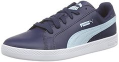 Puma Puma Smash Wns L, Damen Sneakers, Blau (peacoat-cool blue 03), 37.5 EU (4.5 Damen UK) - http://on-line-kaufen.de/puma/37-5-eu-puma-puma-smash-wns-l-damen-sneakers