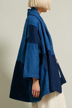 Atelier Delphine Haori Coat in Patchworked Kimono Fashion, Denim Fashion, Fashion Outfits, Trendy Outfits, Couture, Mode Jeans, Denim Ideas, Indigo, Denim Outfit