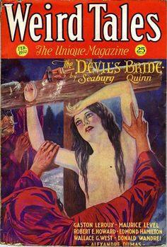 "greengerg:  "" ""Weird Tales"" (February 1932)  Cover art by C. C. Senf  """