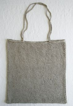 This lovely pattern is a knitter's version of the classic crocheted market bag. The natural linen yarn will match just about any outfit, and creates a beautiful, unusual texture. This would be cute for weekends at the farmers market, or for packing up your book and a snack for a day at the park.