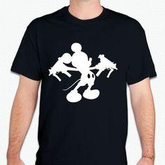Mickey Mouse With Uzi Guns T-shirt | Blasted Rat