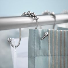 Curtain hooks, set of 12 per pack double curtain rods, double shower curtai Double Shower Curtain, Double Rod Curtains, Shower Curtain Hooks, Bathroom Shower Curtains, Curtain Rods, Rustic Shower Curtain Rings, Master Bathroom, Long Shower Curtains, Home Curtains