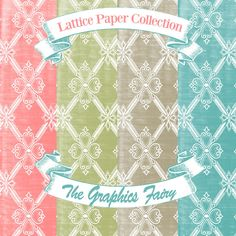 The Background Fairy: Digital Papers - Lattice Collection. Fantastic freebies for blogs or other DIY projects!