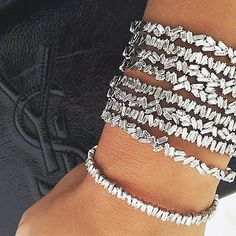 So excited to welcome these Suzanne Kalan baguette bangles to our store! Fireworks collection.