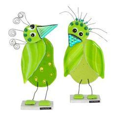 Glasfugle, grøn - Skønne finurlige fugle