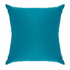 Debenhams Turquoise cotton square cushion- at Debenhams.com