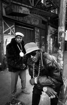 Eric B. & and Rakim photographed on 4th Street close to the junction of…