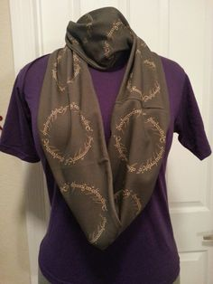 Lord of the Rings Elven script KNIT scarf by NerdAlertCreations, $40.00