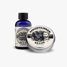 Heavy Duty Beard Balm & Beard Oil Combo - 2 Scents Available – Mountaineer Brand Products Beard Oil And Balm, Beard Balm, Natural Beard Oil, Pre Shave, Shaving Oil, Essential Oils For Hair, Awesome Beards, Hair And Beard Styles, The Balm