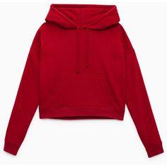 whitecap hoodie Aritzia ($75) ❤ liked on Polyvore featuring tops, hoodies, red hoodie, red hooded sweatshirt, hooded sweatshirt, fleece hooded sweatshirt and crop top