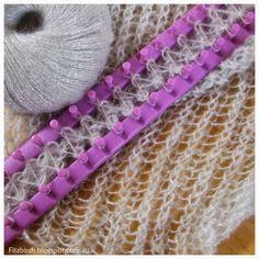 FitzBirch Crafts: Loom Knit Shimmery Shrug